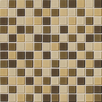Daltile Isis Glass Mosaic 1 x 1 Blends Cream Blend IS26 11MS1P
