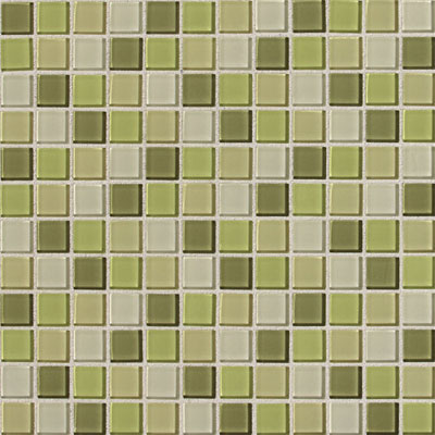 Daltile Isis Glass Mosaic 1 x 1 Blends Kiwi Blend IS27 11MS1P