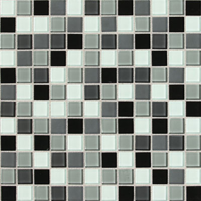 Daltile Isis Glass Mosaic 1 x 1 Blends Pewter Blend IS31 11MS1P