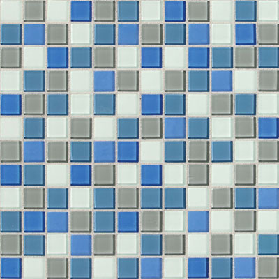 Daltile Isis Glass Mosaic 1 x 1 Blends Polo Blue Blend IS30 11MS1P