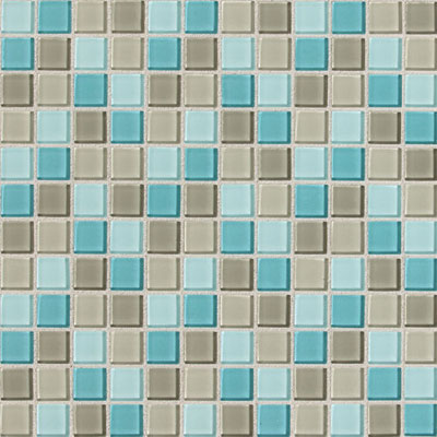 Daltile Isis Glass Mosaic 1 x 1 Blends Whisper Blend IS28 11MS1P