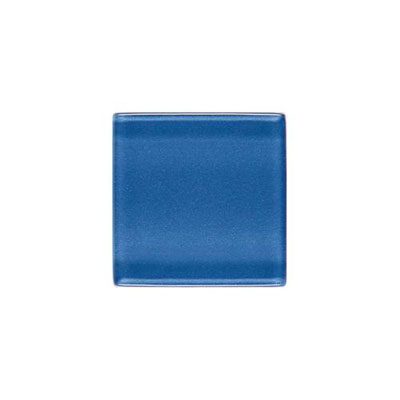 Daltile Isis Glass Mosaic 1 x 1 Mesh Mounted Polo Blue IS21 11MS1P
