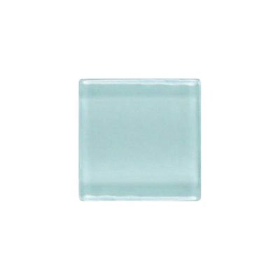 Daltile Isis Glass Mosaic 1 x 1 Mesh Mounted Whisper Blue IS11 11MS1P