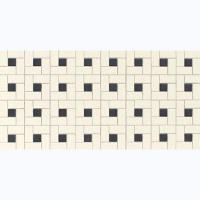 Daltile Keystones Blends Brickwork Mosaic 2 x 1 (12 x 24) Windmill White Ebony DK2021 WINDMS1P