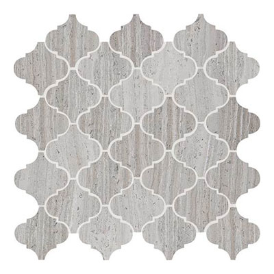 Daltile Limestone Mosaics Unique Shapes Chenille White Baroque L191 BAROQUEMS1L
