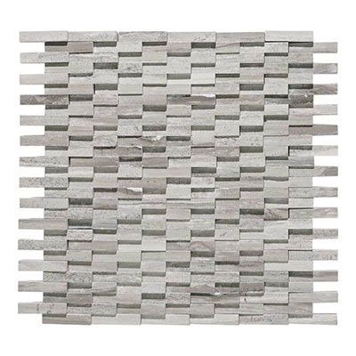 Daltile Limestone Mosaics Unique Shapes Chenille White Cladding L191 CLADMS1L