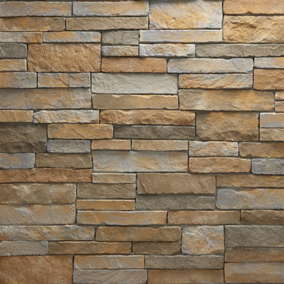 Daltile Manuf. Stone - Mesa Ledge Stack (Box) Canyon Fog MS74 MLSFLATBX1P