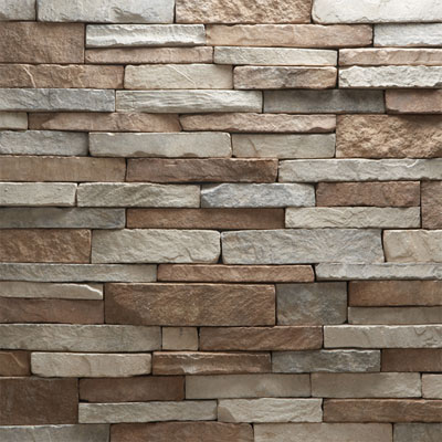 Daltile Manuf. Stone - Mesa Ledge Stack (Box) Peppercorn Blend MS77 MLSFLATBX1P