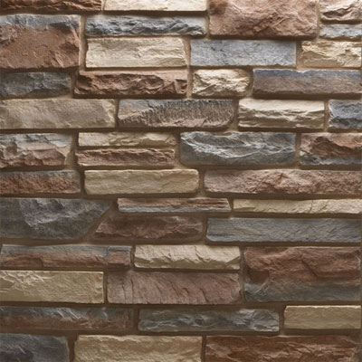 Daltile Manuf. Stone - Sculpted Ledge Stone (Pallet) Dappled Shade MS72 SLFLATPL1P