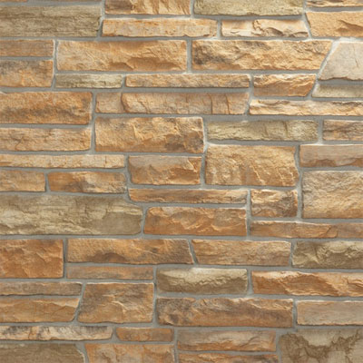 Daltile Manuf. Stone - Sculpted Ledge Stone (Pallet) Golden Dawn MS84 SLFLATPL1P
