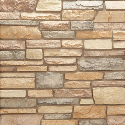 Daltile Manuf. Stone - Sculpted Ledge Stone (Pallet) Indian Corn MS83 SLFLATPL1P
