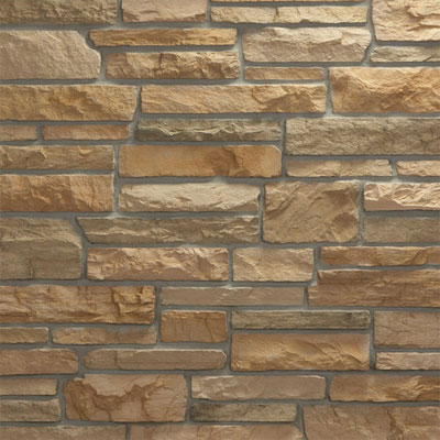 Daltile Manuf. Stone - Sculpted Ledge Stone (Pallet) Torch Light MS85 SLFLATPL1P