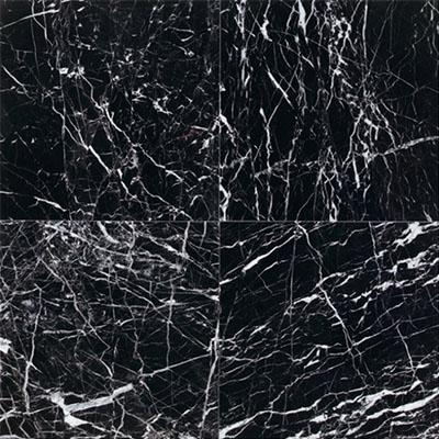 Daltile Marble 12 x 12 Polished China Black
