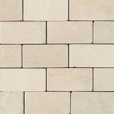 Daltile Marble 3 x 6 (All the other Marbles) Crema Marfil Classico Tumbled M72236TS1P