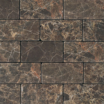 Daltile Marble 3 x 6 (All the other Marbles) Emperador Dark Tumbled M72536TS1P