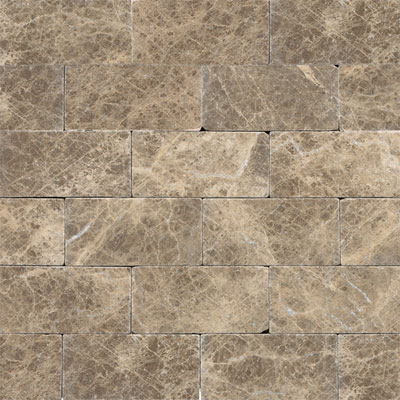 Daltile Marble 3 x 6 (All the other Marbles) Emperador Light Tumbled M71236TS1P