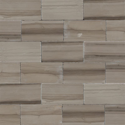 Daltile Marble 3 x 6 (All the other Marbles) Silver Screen Vein Cut Tumbled M74436TSV1P