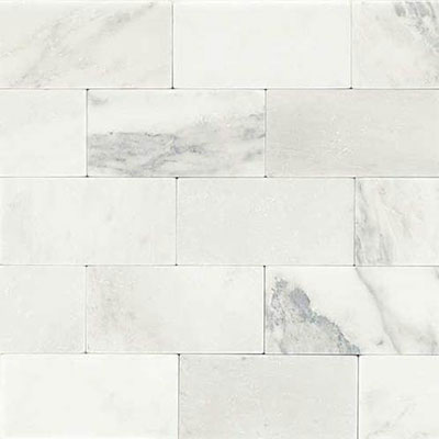 Daltile Marble 3 x 6 Tumbled First Snow Elegance