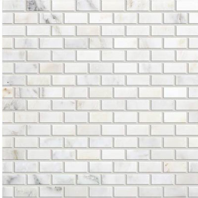 Daltile Marble Brick Joint Mosaic First Snow Elegance