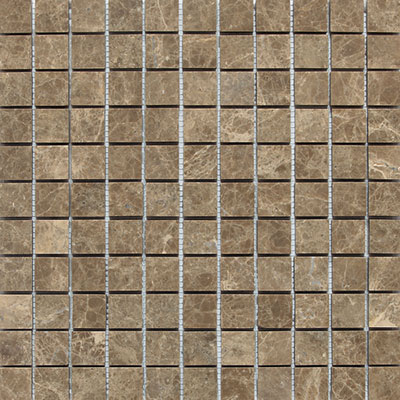 Daltile Marble Mosaic 1x1 Honed Emperador Light M712 11MS1U