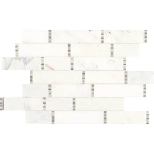 First Snow Marble : Daltile marble random linear mosaic first snow elegance