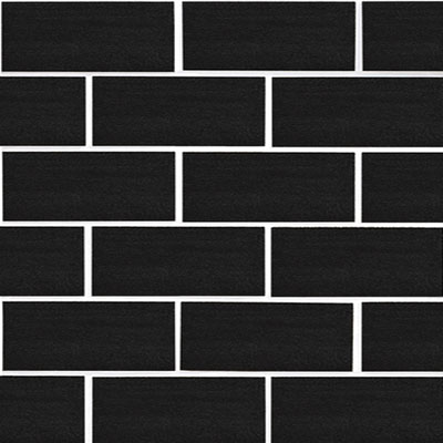 Daltile Match-Point 2 x 4 Brick-Joint Mosaic Jet Black P12424MS1P