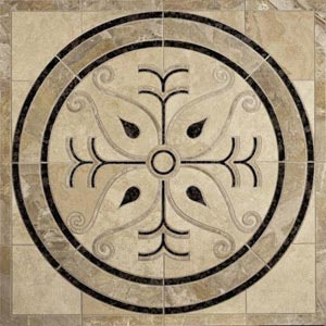Daltile Medallion 42 x 42 Scroll 42 x 42 WJM3 4242MED1P