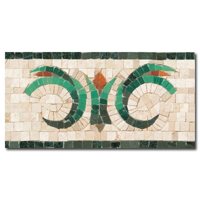 Daltile Medallions - Stone Borders Giardino Border Center - Polished SB06612BDRMS1P