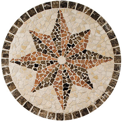 Daltile Medallions Tumbled Stone Northern Star Tumbled