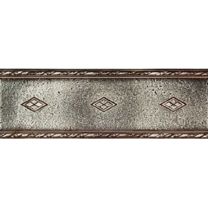 Daltile Metal Signatures Jardin & Diamond Weave Diamond Weave Border 4 x 12 MS10 412DECOE1P