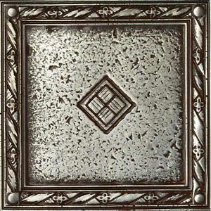 Daltile Metal Signatures Jardin & Diamond Weave Diamond Weave Border/Corner 4 x 4 MS10 44DECOE1P