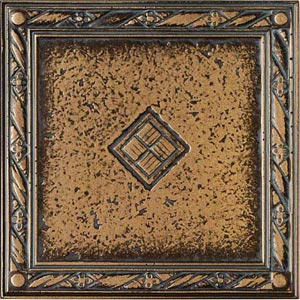 Daltile Metal Signatures Jardin & Diamond Weave Diamond Weave Border/Corner 4 x 4 MS11 44DECOE1P