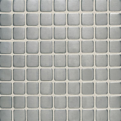 Daltile Metallica - Metal Tile 1x1 Mosaic Brushed Stainless Steel SS50 11MS1P