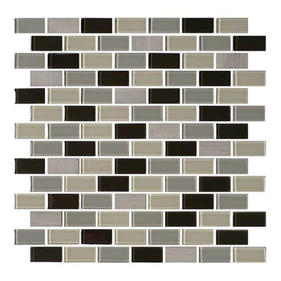 Daltile Mosaic Traditions 3/4 x 1 1/2 Brick Joint Mosaic Evening Sky