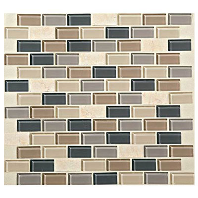 Daltile Mosaic Traditions 3/4 x 1 1/2 Brick Joint Mosaic Skyline