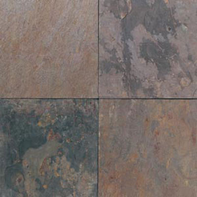 Daltile Tumbled Natural Stone Slate 6 x 6 TS70 Indian Multicolor TS70661P