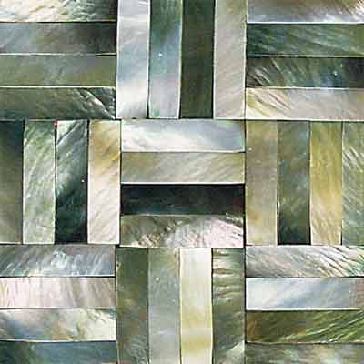 Daltile Ocean Jewels Basketweave Black Lip OJ01 22BW1L