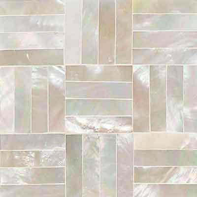 Daltile Ocean Jewels Basketweave Mother Of Pearl OJ03 22BW1L