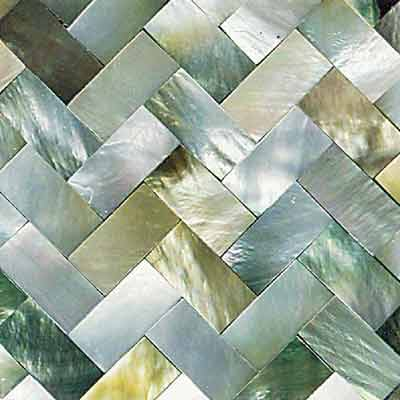 Daltile Ocean Jewels Herringbone Black Lip OJ01 22HB1L