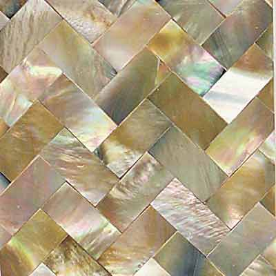 Daltile Ocean Jewels Herringbone Brown Lip OJ05 22HB1L