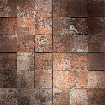 Daltile Reflective Elements Mosaic Copper P670  22MS1P
