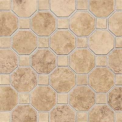 Daltile Salerno Mosaic Octagon w/Dot Marrone Chiaro SL83 2OCT81MS1P2