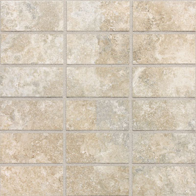Daltile San Michelle 2 x 4 Mosaic Cross Cut Crema SL30 24MS1P