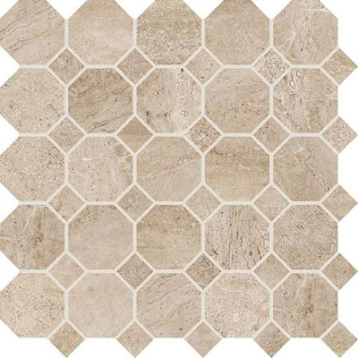 Daltile Severino Octagon Dot Mosaic Vento Breeze