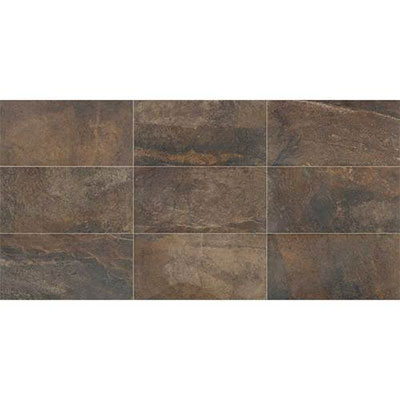 Daltile Slate Collection - Attache 12 x 24 Multi Brown