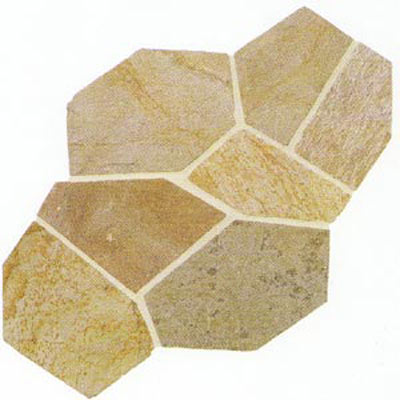 Daltile Slate Collection - Patterned Flagstone Golden Sun S783 PATTNFLAG1P