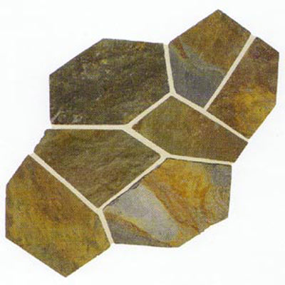 Daltile Slate Collection - Patterned Flagstone Mongolian Spring S781 PATTNFLAG1P