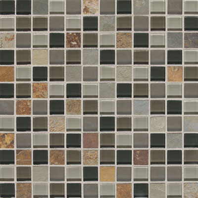 Daltile Fashion Accents Slate Radiance 1x1 Mosaic SA55 Flint SA5511MS1P