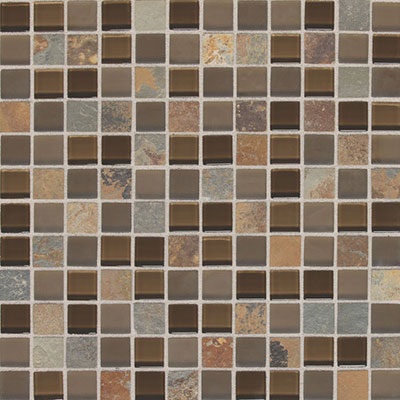 Daltile Fashion Accents Slate Radiance 1x1 Mosaic SA56 Saddle SA5611MS1P