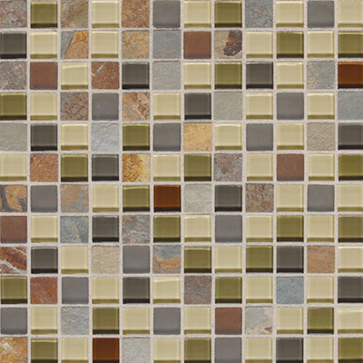 Daltile Fashion Accents Slate Radiance 1x1 Mosaic Tile